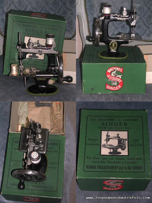 Les poupees d 39 autrefois superbe machine a coudre singer for Machine a coudre 75011